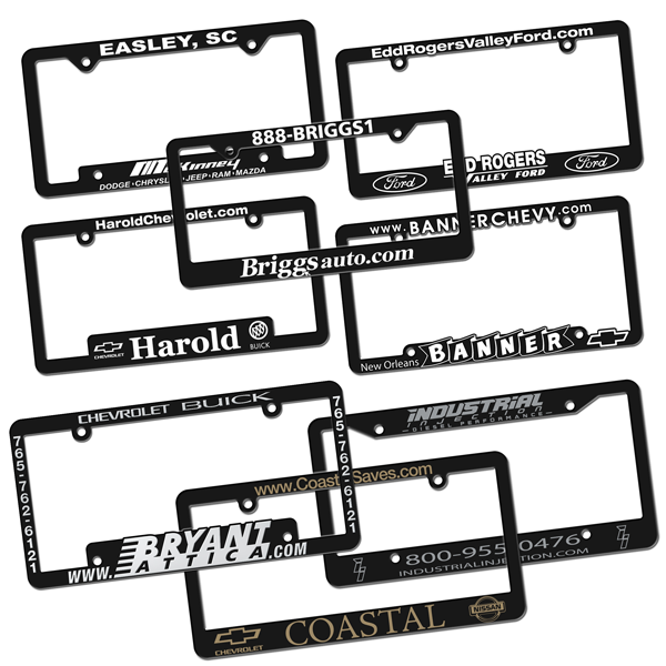 Screen Printed PolyCard License Plates